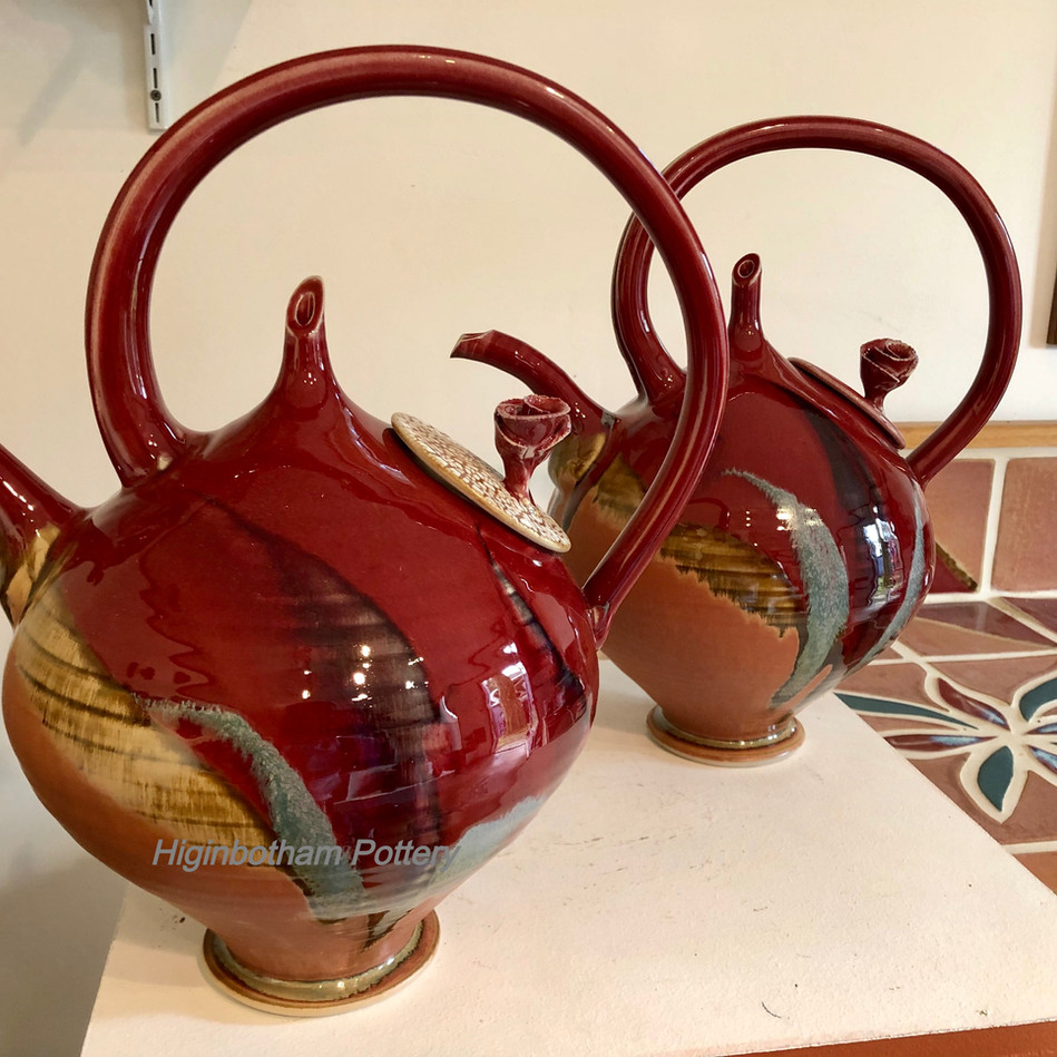 Copper Red Teapots