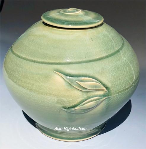 Celadon Leaf Globe Urn