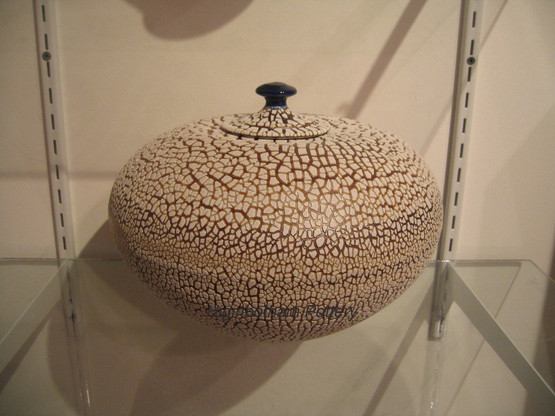 Crackle Lidded Urn