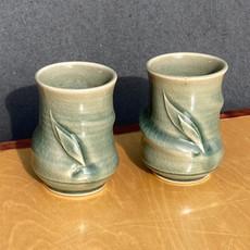 Celadon Leaf Tea cups 4 in.Ht. x 3 in diam. $32