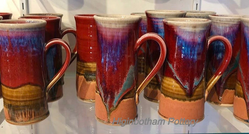 Copper Red Tall Mugs