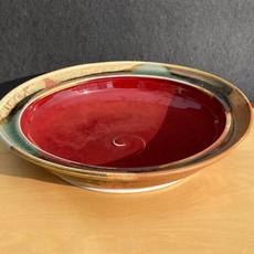 2 Rim Red Bowl 12.5 in. diam. x 2.5 in. Ht. $115