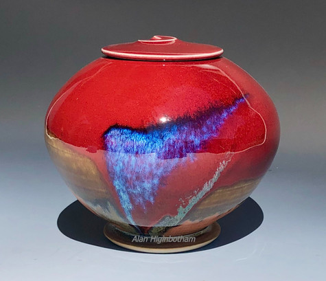 Smaller Red Pet Urn