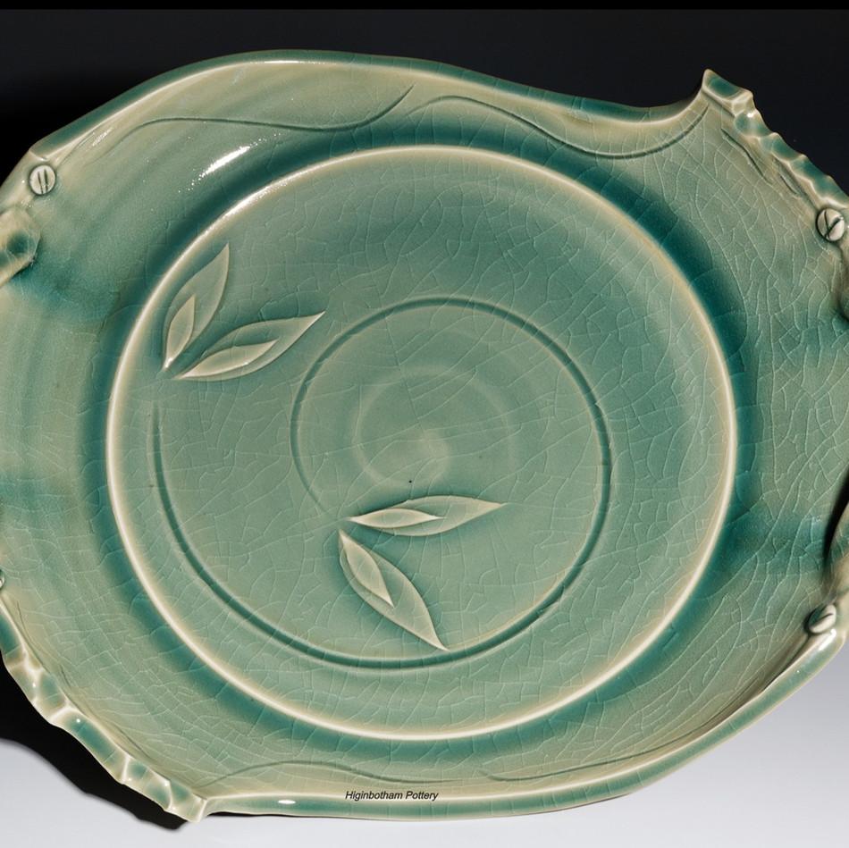 Celadon Cut Platter