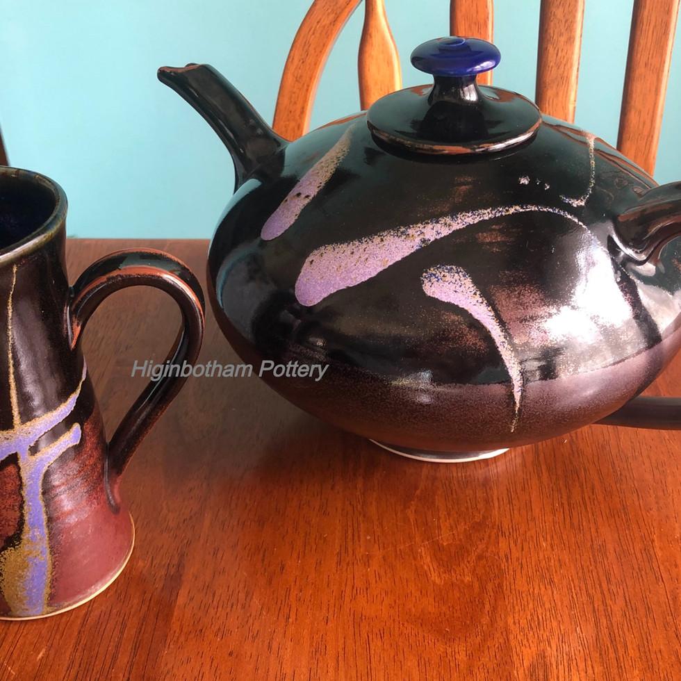 Temaku Black Teapot