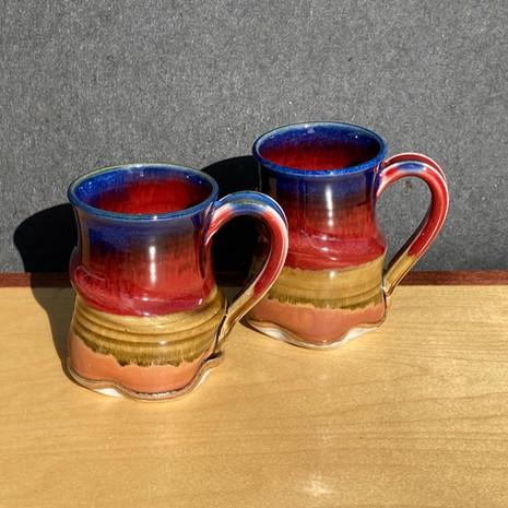 Blue-rim Square Mug 4 in. Ht. x 3 in diam. $30 (small)