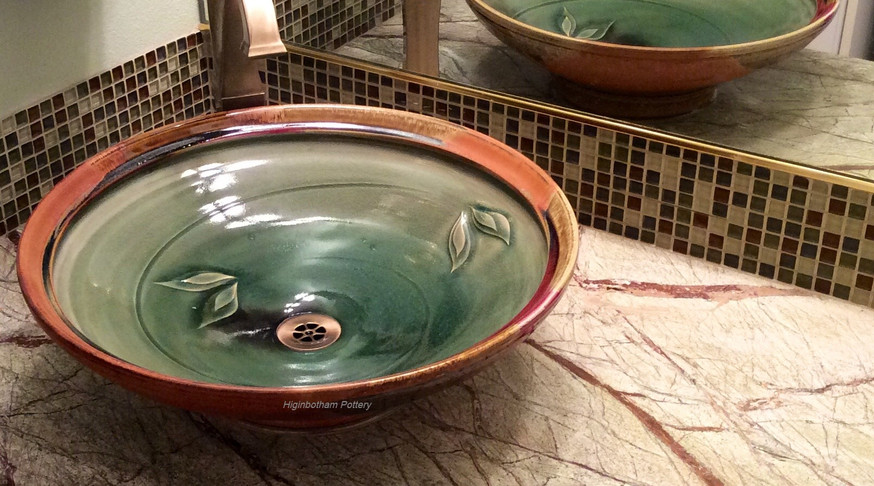 Above-Counter Celadon Madrone Sink