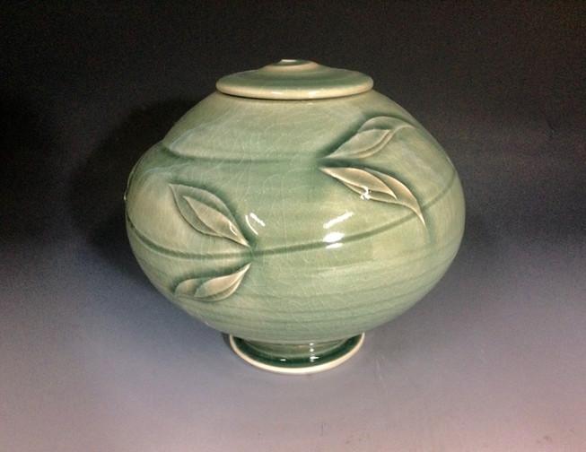 Celadon Lidded Urn