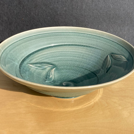 Celadon Large Serving bowl, 14 in $135 / Small, 11 in. diam. $95