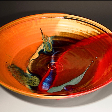 Copper Red Madrone Serving Bowl in two sizes: Large= 13-14.5 in. diam. $125, Small=11-12 in. diam. $90