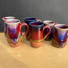 L to Rt. Curve Mug 5 in. $34, Onishi Mug 4.5 in. $32, Small Mug 4 in. Ht. $30