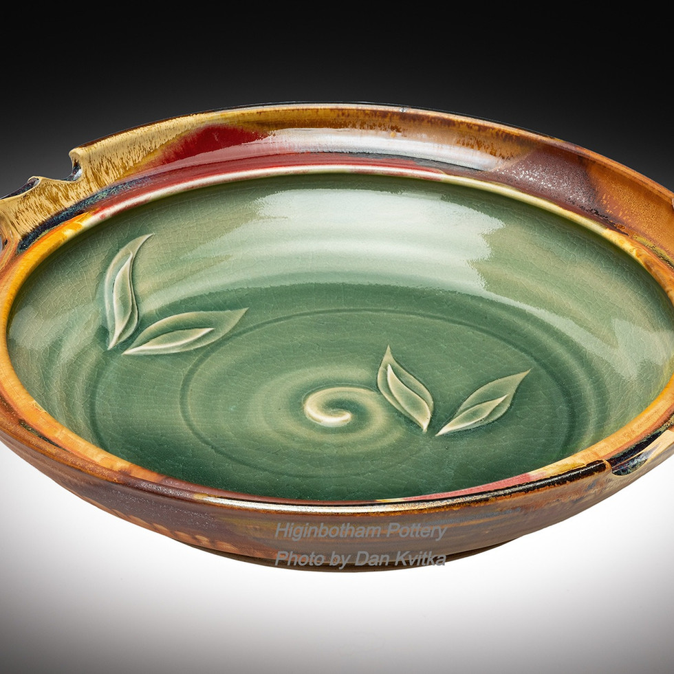Celadon Madrone Cut Platter, Wall-Wired