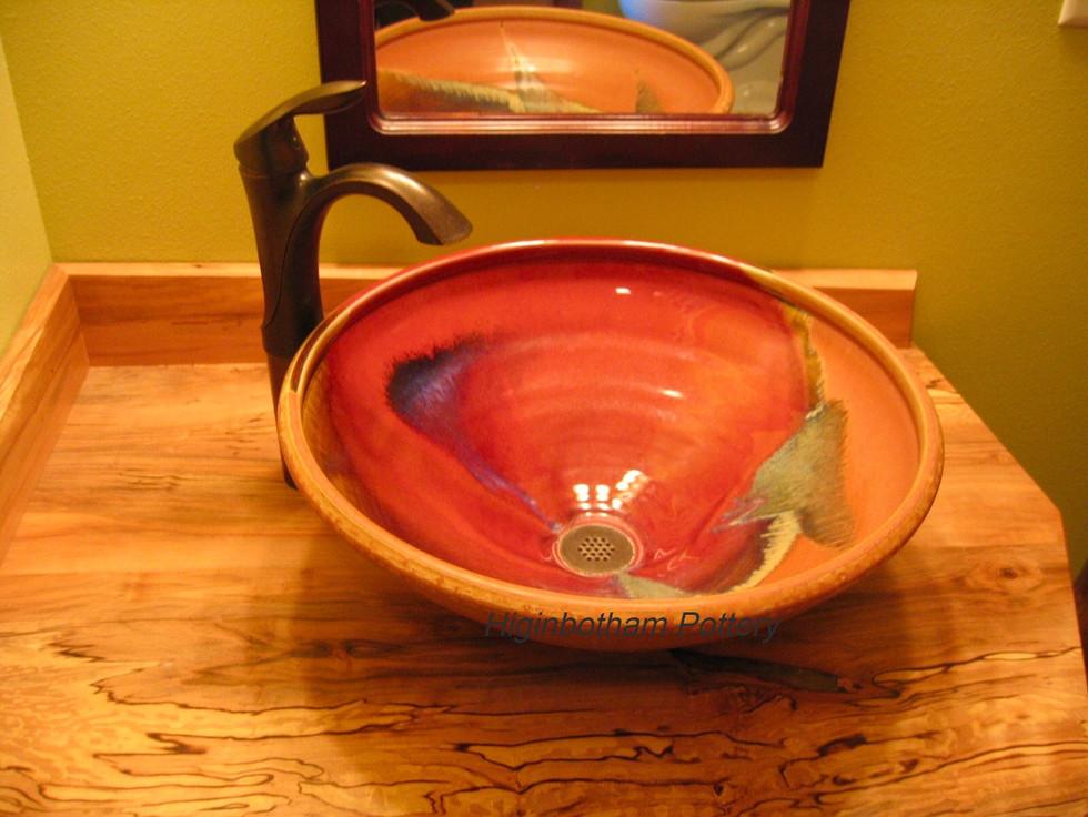 Vessel Style Sink, Kenagy woodwork