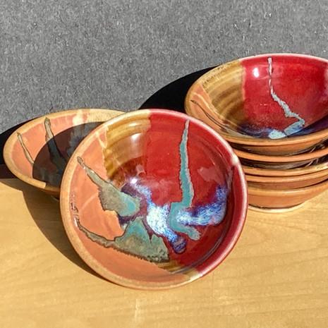 (Closeup) of Tiny Condiment / Gelato Bowls 3 to 4 inch diam. $16