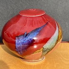 Red Globe Urn 9 in Ht. x 9 in. diam.