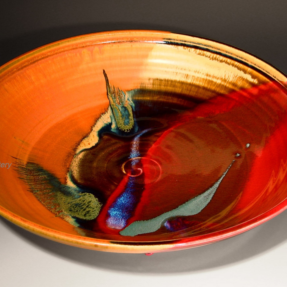 Copper Red Serving Bowl