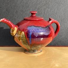 Red Granny Teapot 9 inch Ht. x 9 in diam. $135