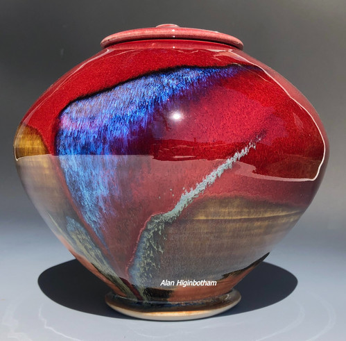 Copper Red Globe Urn