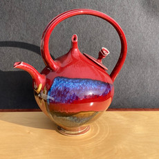 Red Rose Lid Teapot 12 inch Ht. x 10 diam. $225