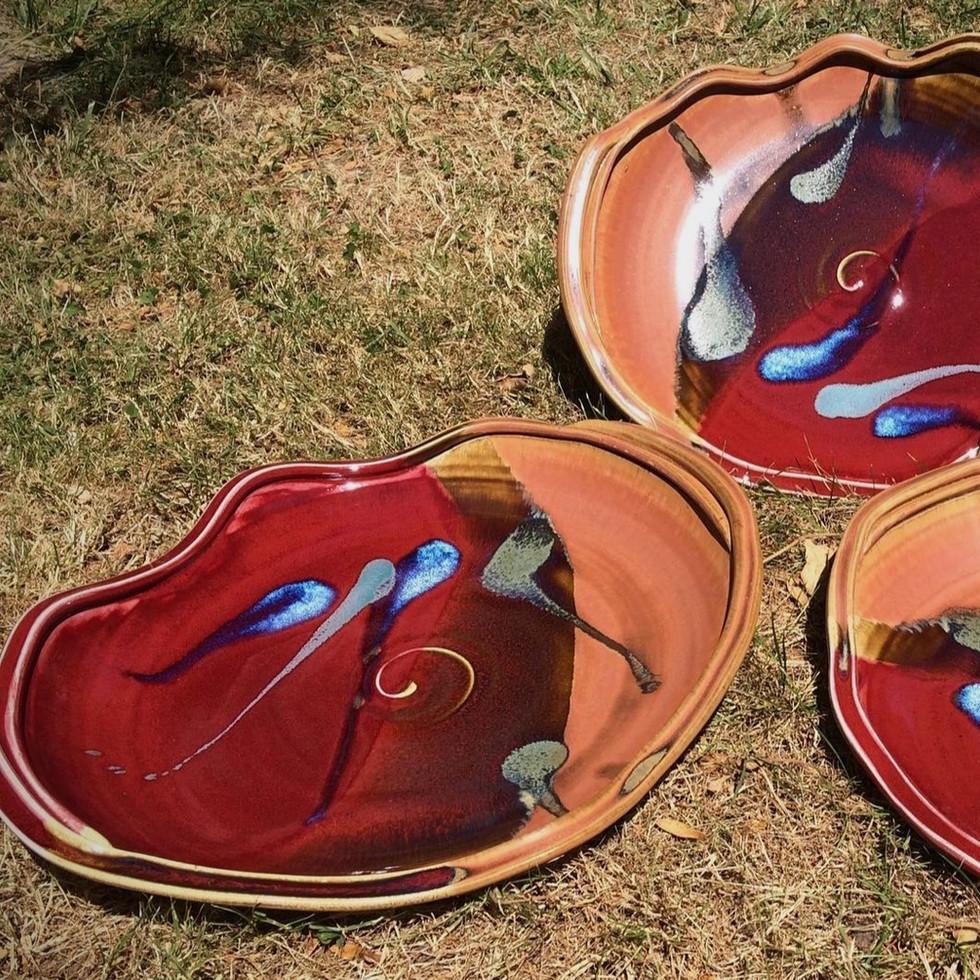 XL Wavy Serving Platters