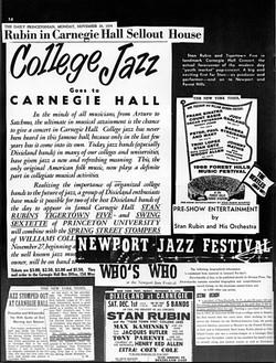 College Jazzgo To Carnegie Hall