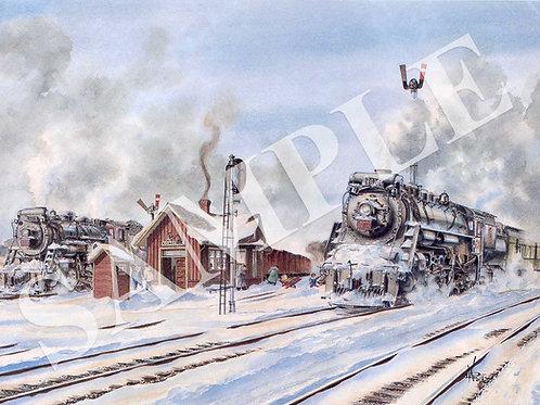 Komoka C.N.R. Station Original Painting