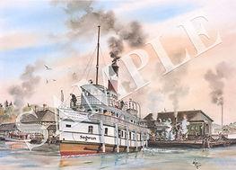 rms segwun leaving muskoka wharf 1930.jp