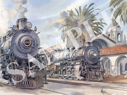 San Diego Station Original Painting