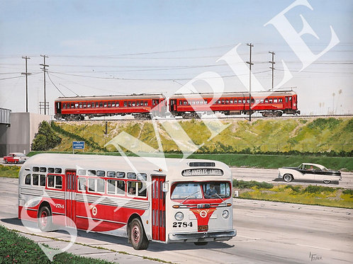 Competitors from Railway to Freeway Original Painting