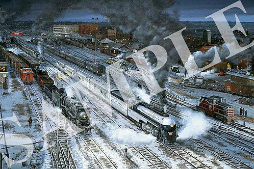 Wartime Twilight at Utica N. Y.