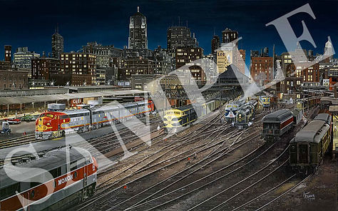 LARRY-FISHER-Night-Departure-from-Chicag