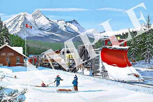Main Line re-opens at Lake Louise Original Painting