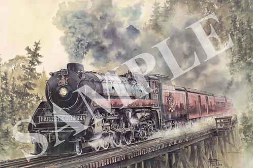 The Royal Hudson Original Painting