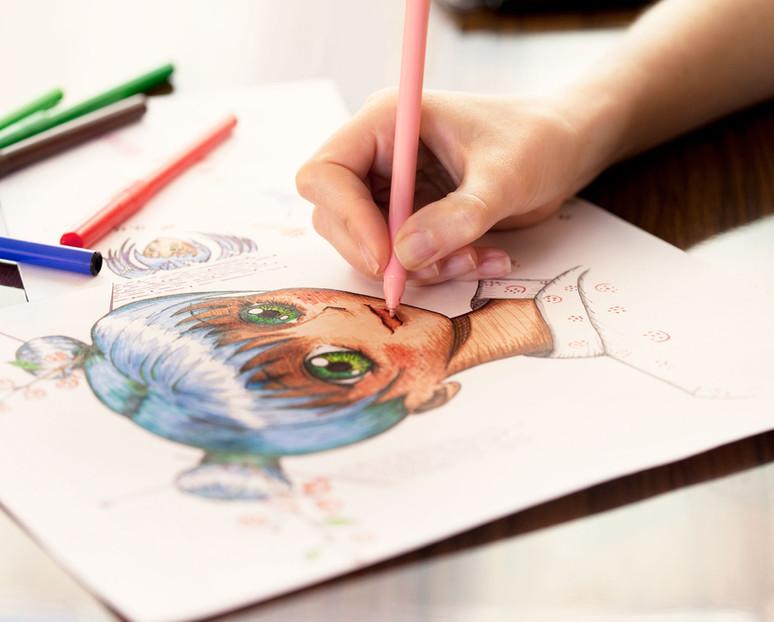 Personne coloriage en Anime