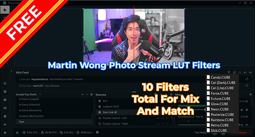 Martin Wong Photo Filters - Stream LUTs