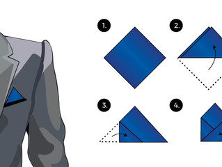 How to: Triangle Fold Pocket Square