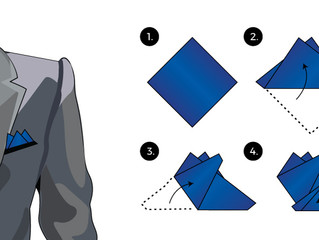 How to: Three Tip Fold Pocket Square