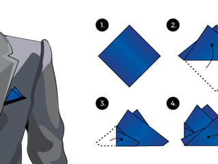 How to: Double Triangle Fold Pocket Square