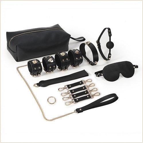 Real Leather Heart Locker Bondage Kit
