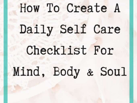Your Daily Self Care Checklist