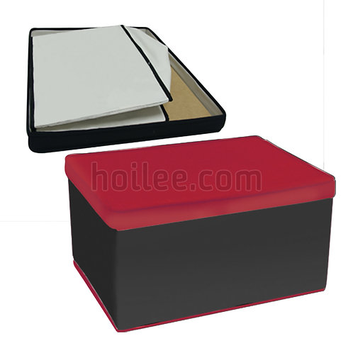 Large Foldable Storage Box with Printed Fabric