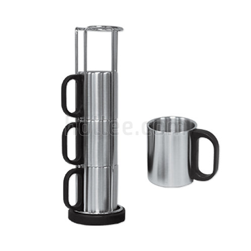 Stainless Steel Cups w/ Saucer