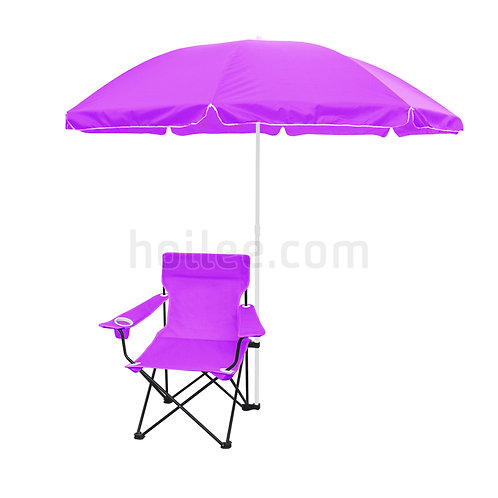 Folding Chair with Sun Umbrella