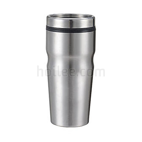 Stainless Steel Plastic Mug 450ml