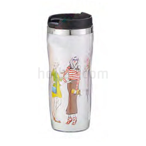 Outer Plastic Stainless Steel Mug 350ml