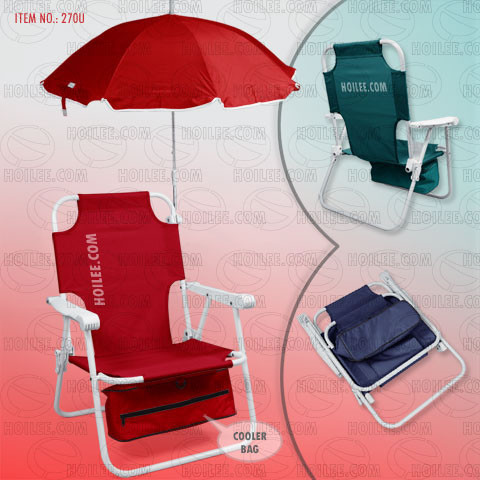 270u Beach Chair With Umbrella And Cooler Bag