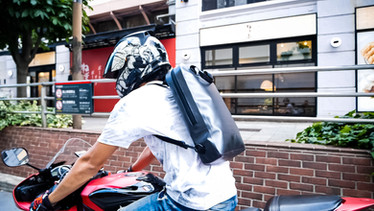 rider's backpack