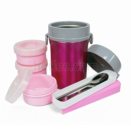 Lunch Box w/ Fork and Spoon