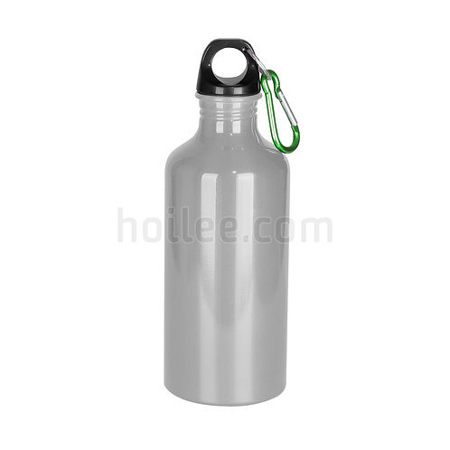 Aluminum Sports Bottle with Carabiner 500ml