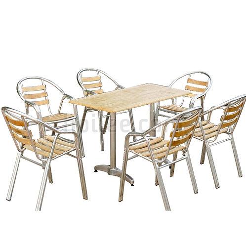 Aluminum Wooden Chair